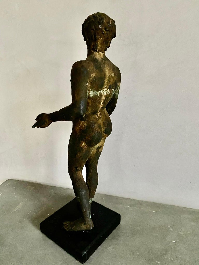 Classical Bronze Male Nude Sculpture For Sale 9