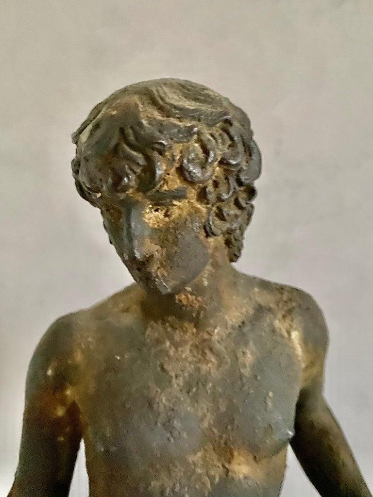 Classical Bronze Male Nude Sculpture For Sale 11