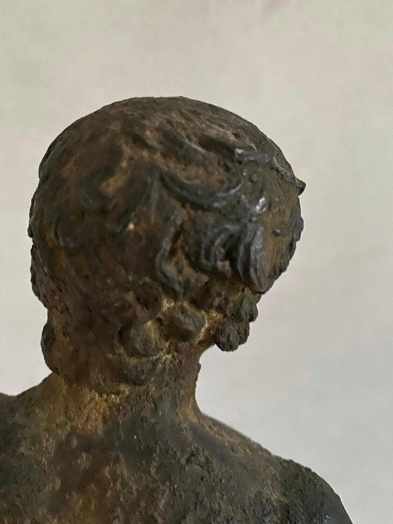 Classical Bronze Male Nude Sculpture For Sale 13