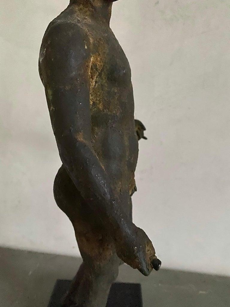 Classical Bronze Male Nude Sculpture For Sale 14