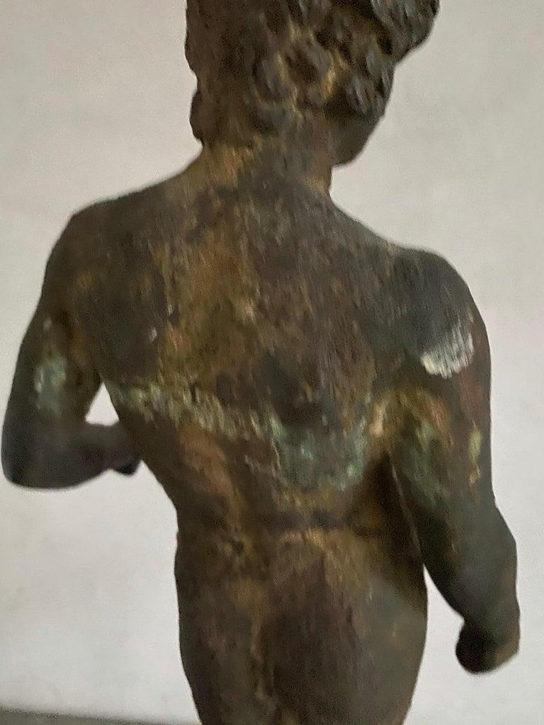 Classical Bronze Male Nude Sculpture For Sale 16