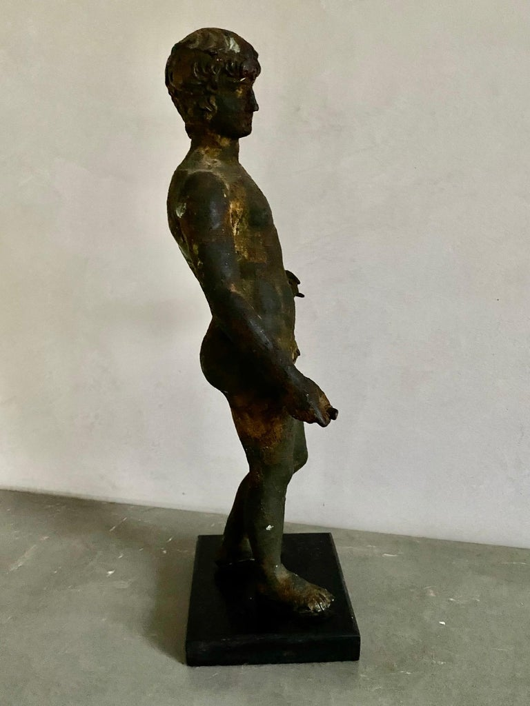 Classical Bronze Male Nude Sculpture For Sale 5