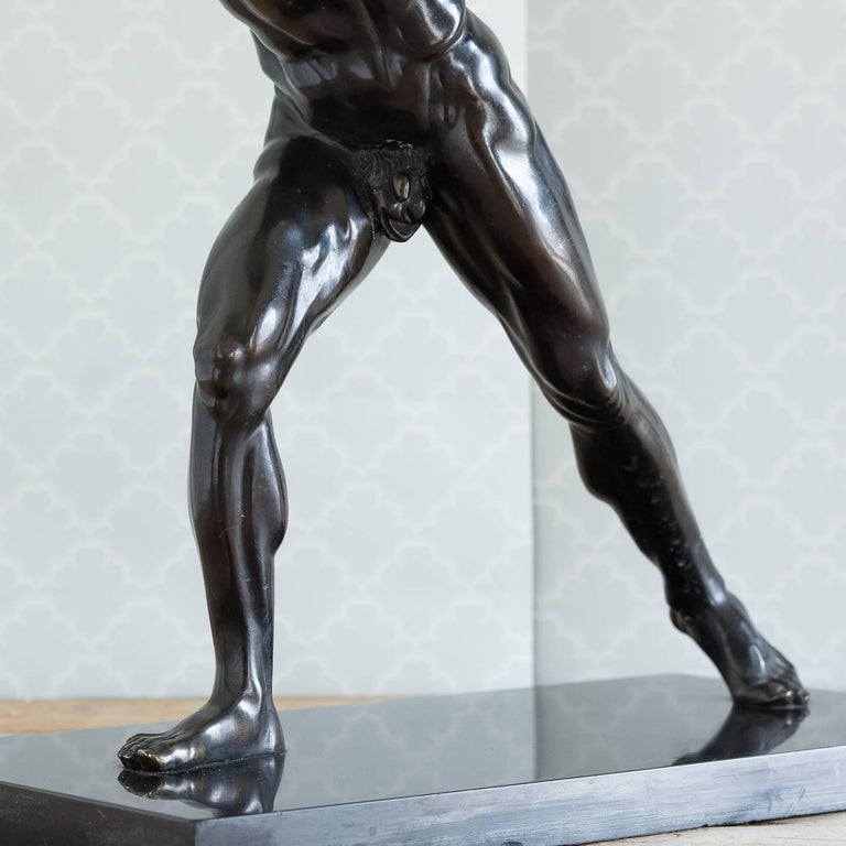 Classical Bronze Model of the Borghese Gladiator For Sale 3