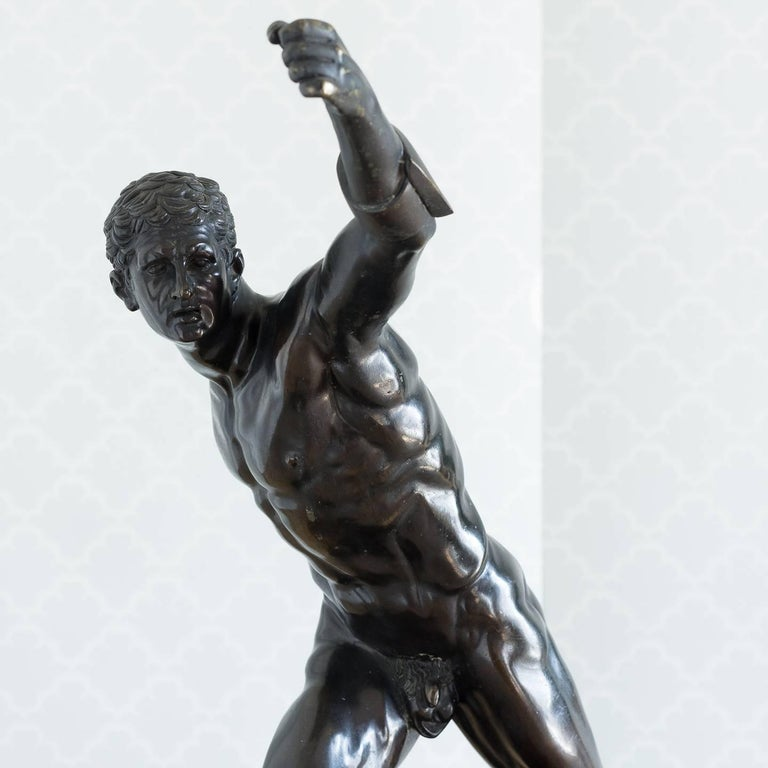 Classical Bronze Model of the Borghese Gladiator In Good Condition For Sale In London, GB