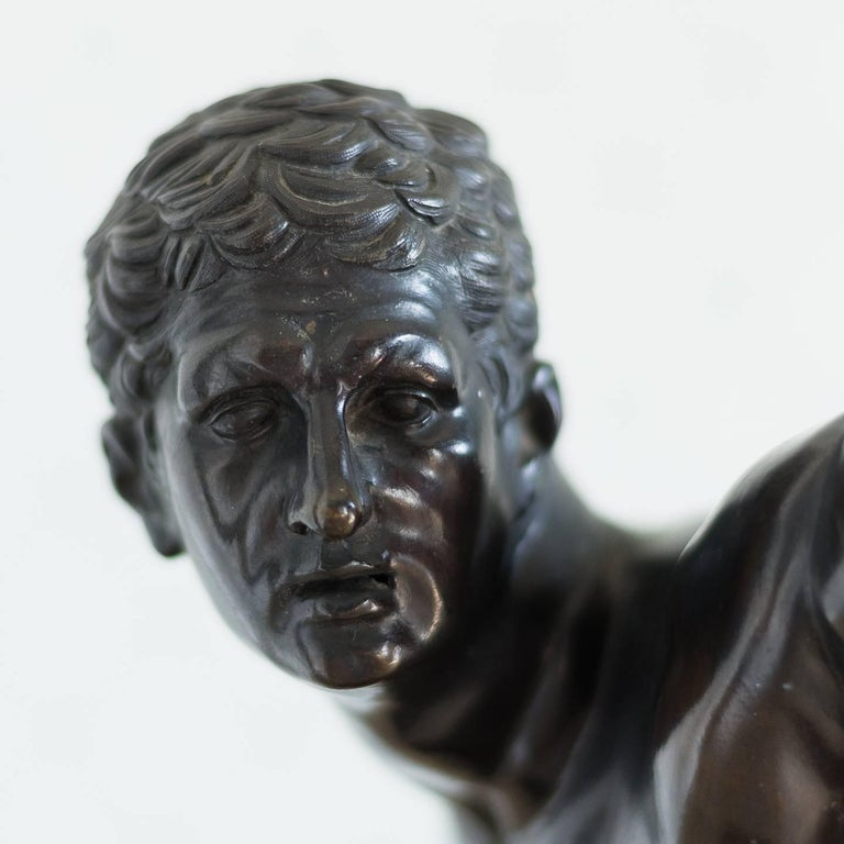 19th Century Classical Bronze Model of the Borghese Gladiator For Sale
