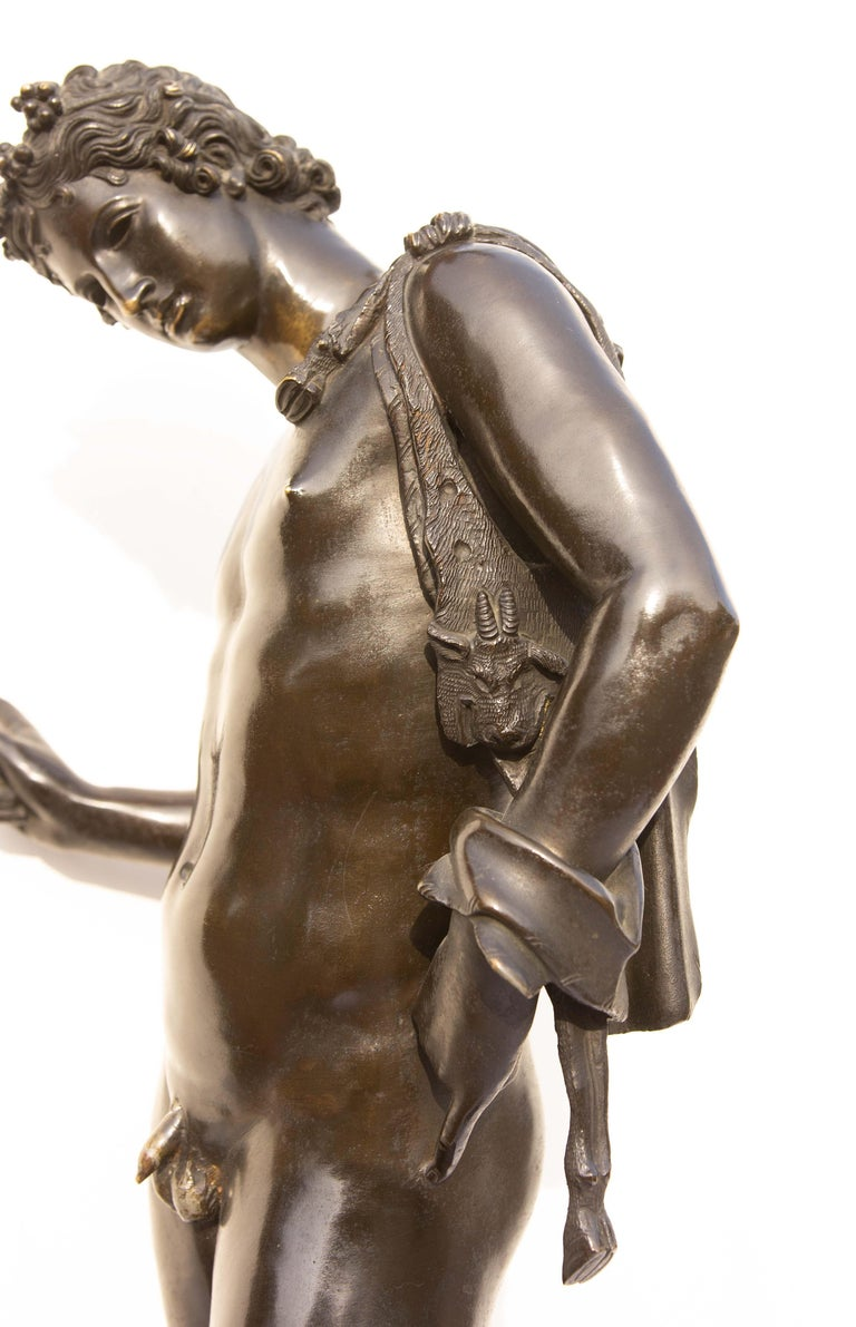 Classical Bronze Sculpture of Narcissus For Sale 3