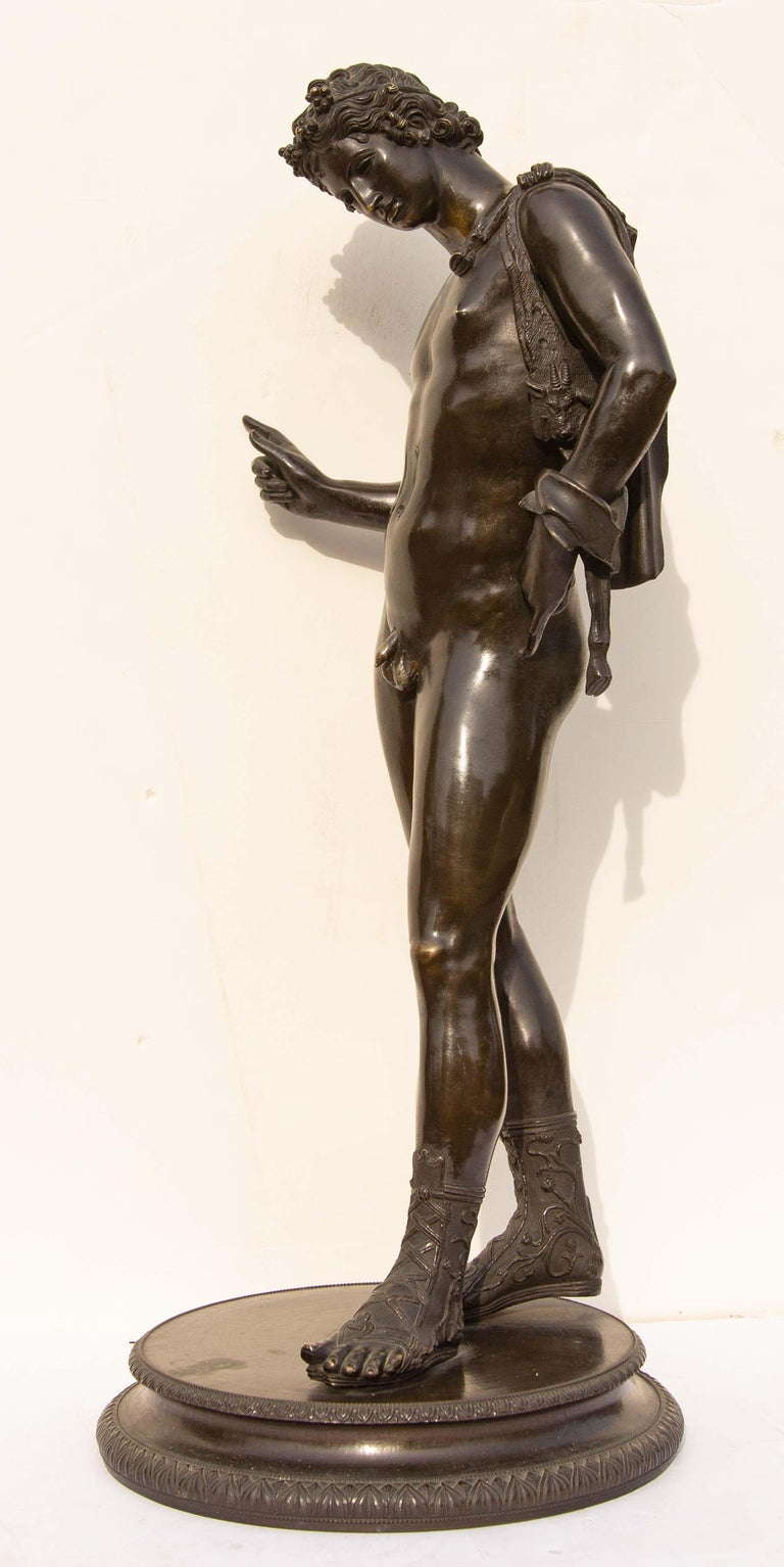 20th Century Classical Bronze Sculpture of Narcissus For Sale