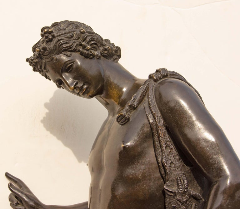 Classical Bronze Sculpture of Narcissus For Sale 1