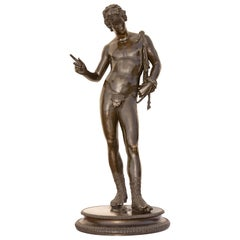 Classical Bronze Sculpture of Narcissus