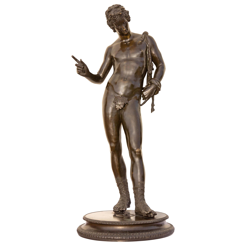 Classical Bronze Sculpture of Narcissus