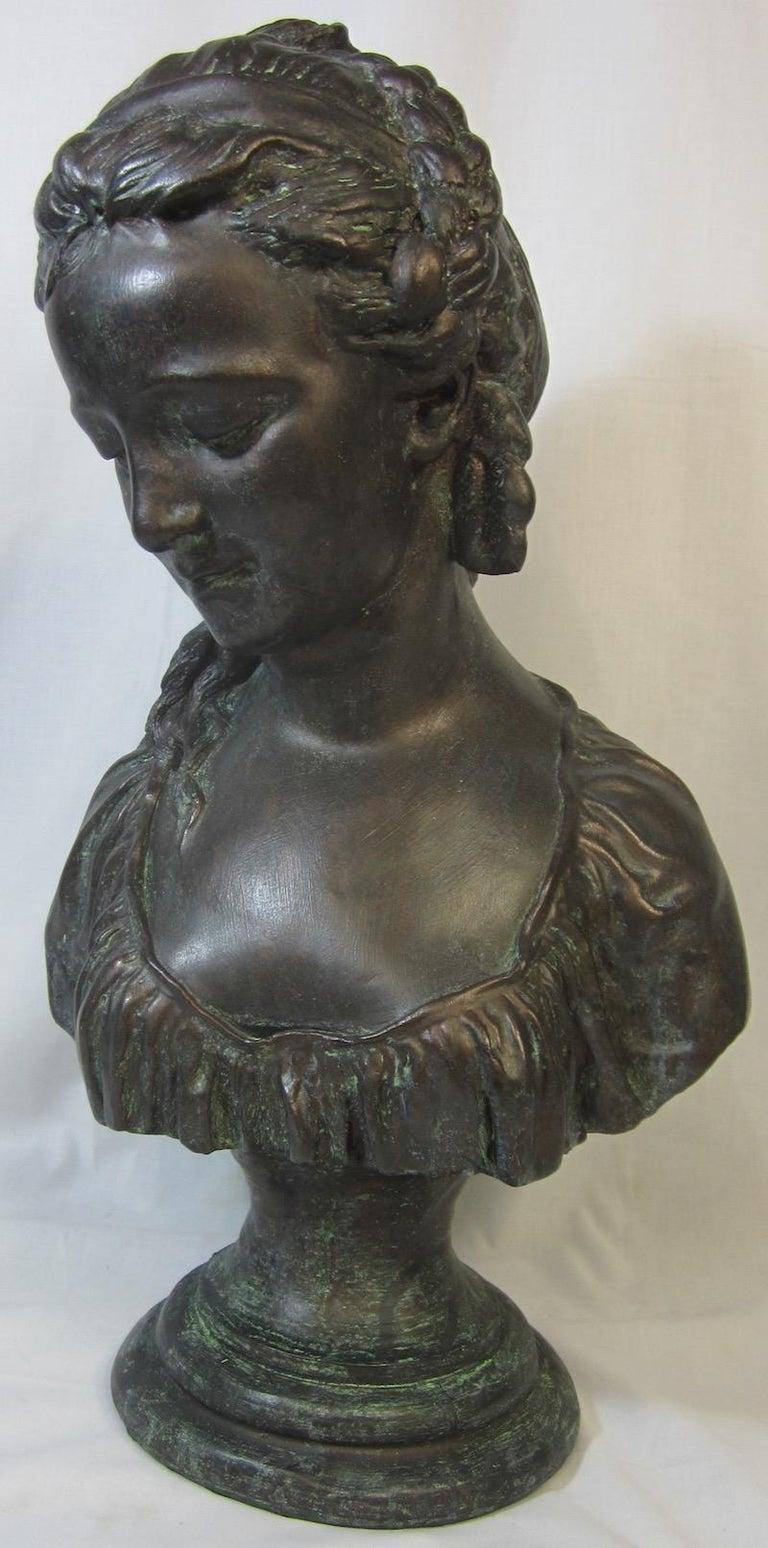 Neoclassical Classical Bust, La Chercheuse d'esprit For Sale
