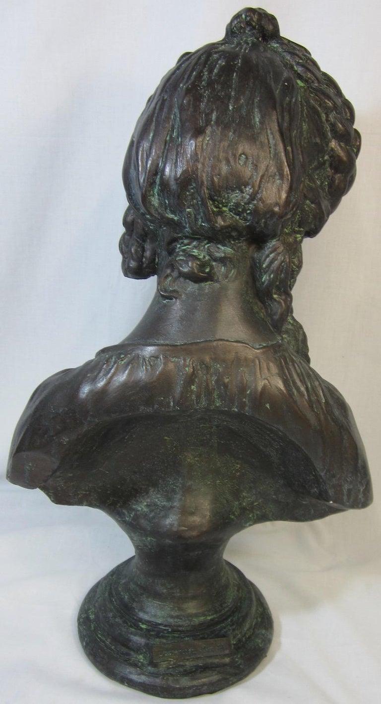 Hand-Crafted Classical Bust, La Chercheuse d'esprit For Sale