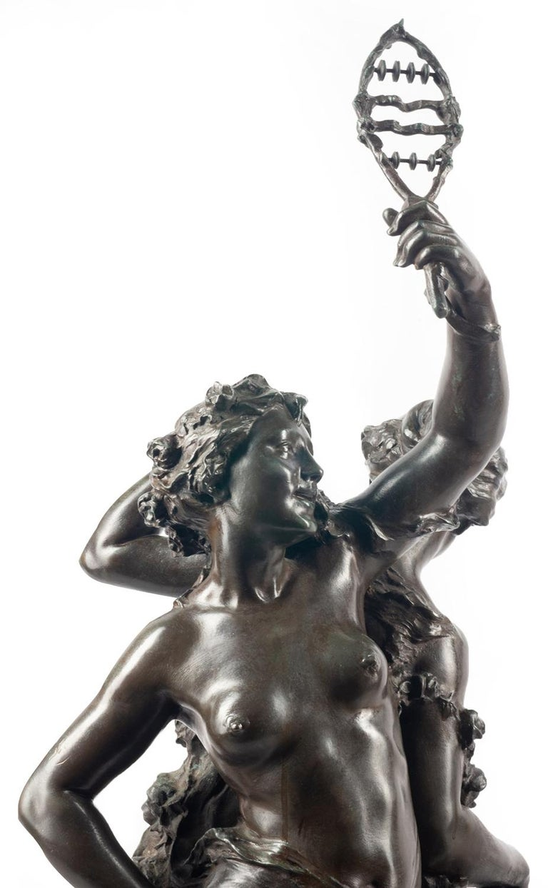 Classical C19th Bronze statue, depicting Music and Dance,  JEAN-BAPTISTE GERMAIN For Sale 7