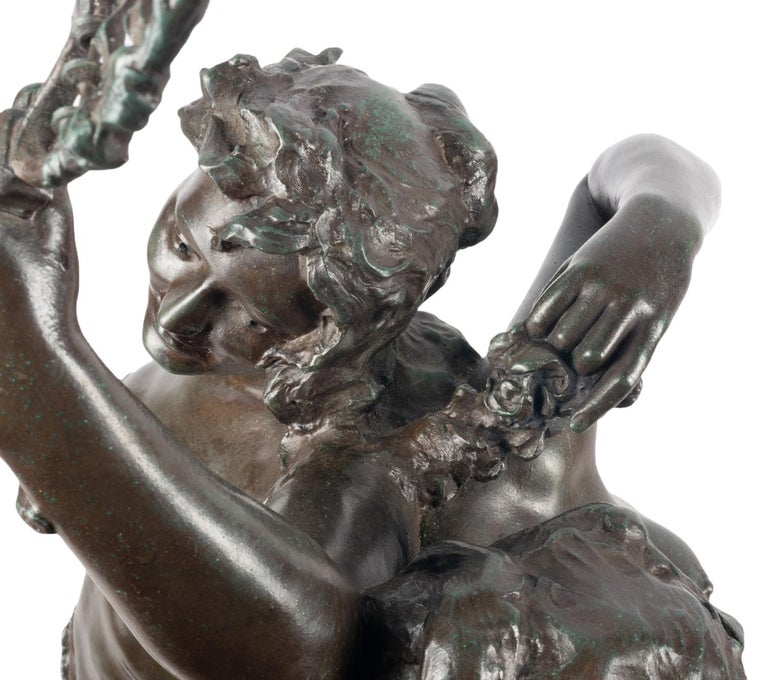 Classical C19th Bronze statue, depicting Music and Dance,  JEAN-BAPTISTE GERMAIN For Sale 14
