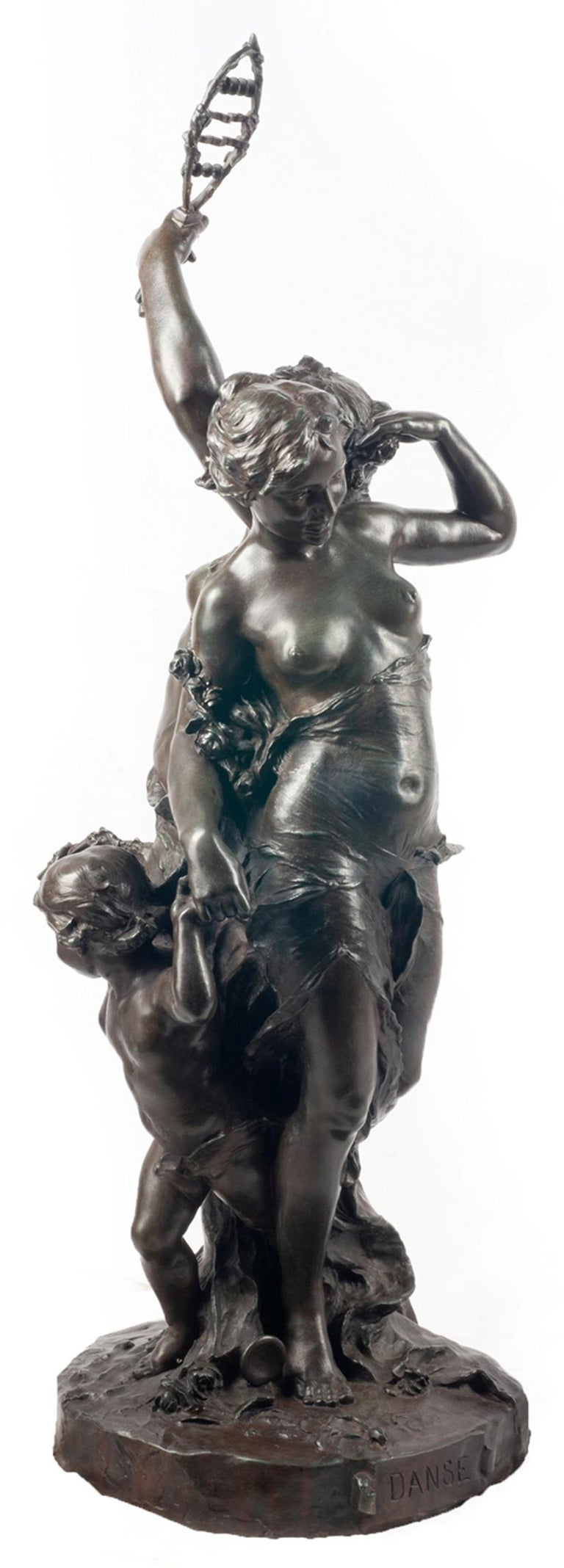 Classical C19th Bronze statue, depicting Music and Dance,  JEAN-BAPTISTE GERMAIN For Sale 15