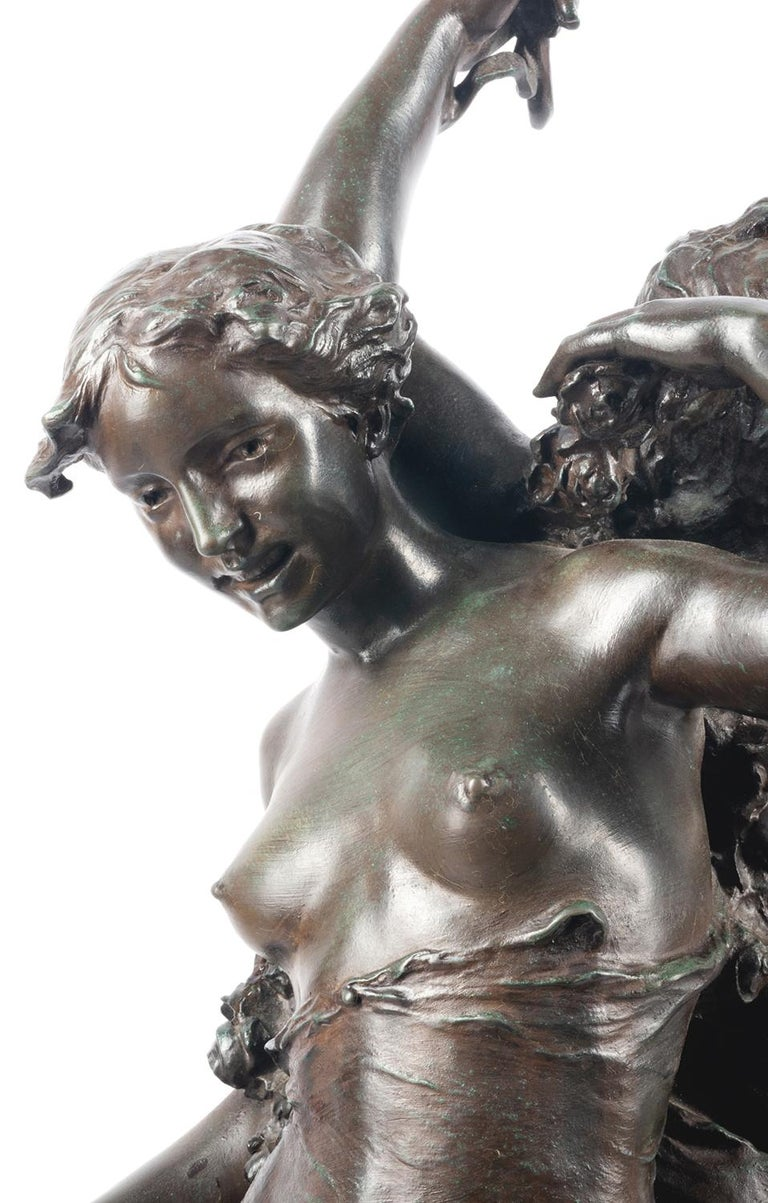 Classical C19th Bronze statue, depicting Music and Dance,  JEAN-BAPTISTE GERMAIN In Good Condition For Sale In Brighton, Sussex