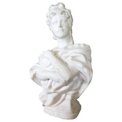 Classical Carved Marble Bust