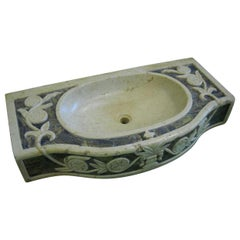 Classical Carved Marble Stone Sink Basin
