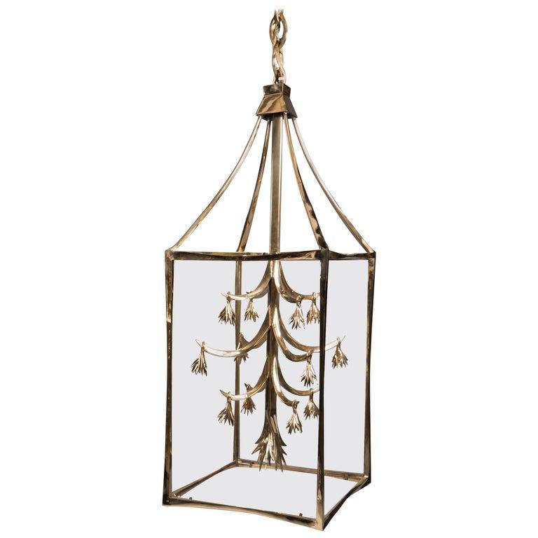 Classical Cast Bronze Lantern, France, 2018 For Sale
