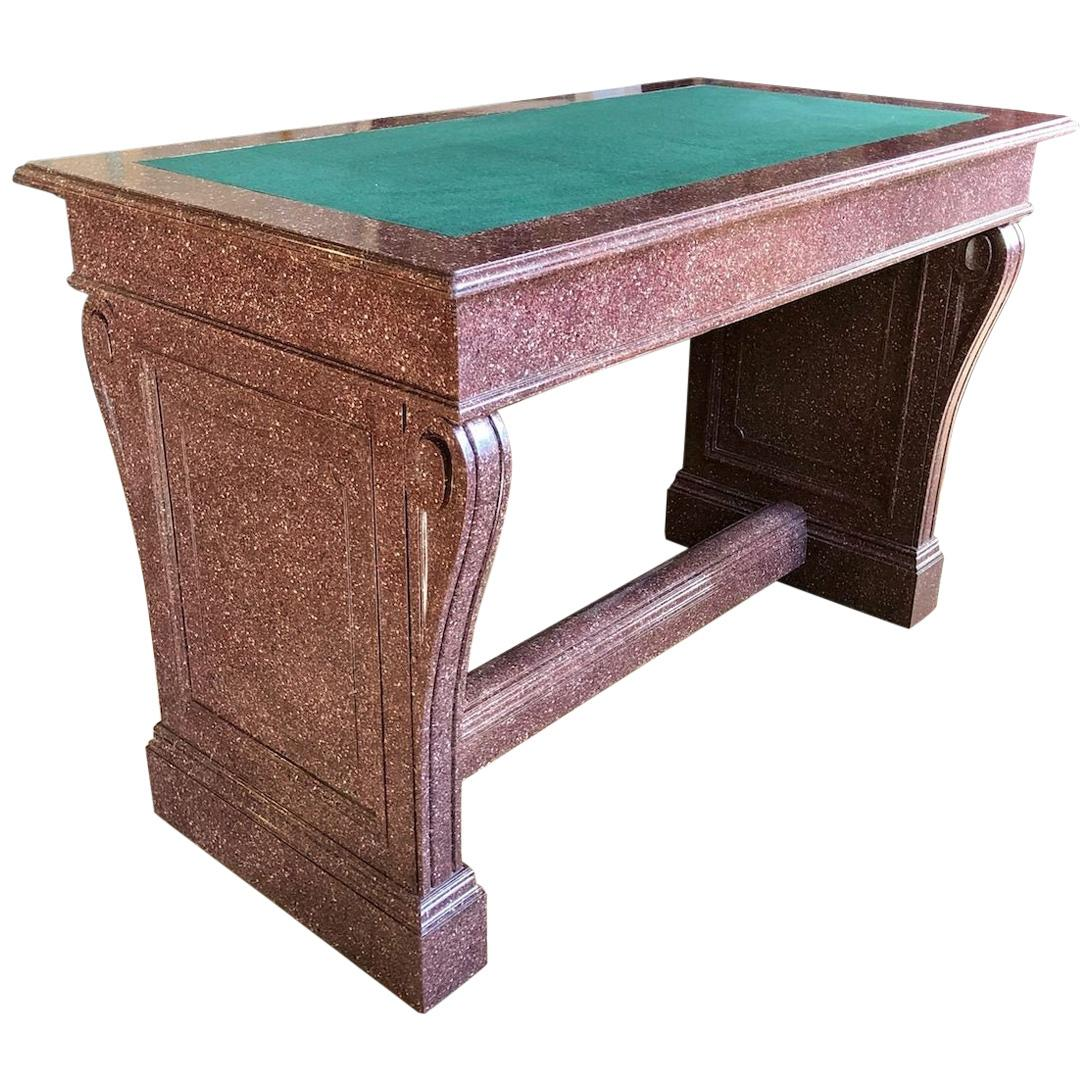 Classical Faux Porphyry Library Table