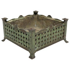 Classical French Bronze Table Top Jardinière Planter in Original Finish