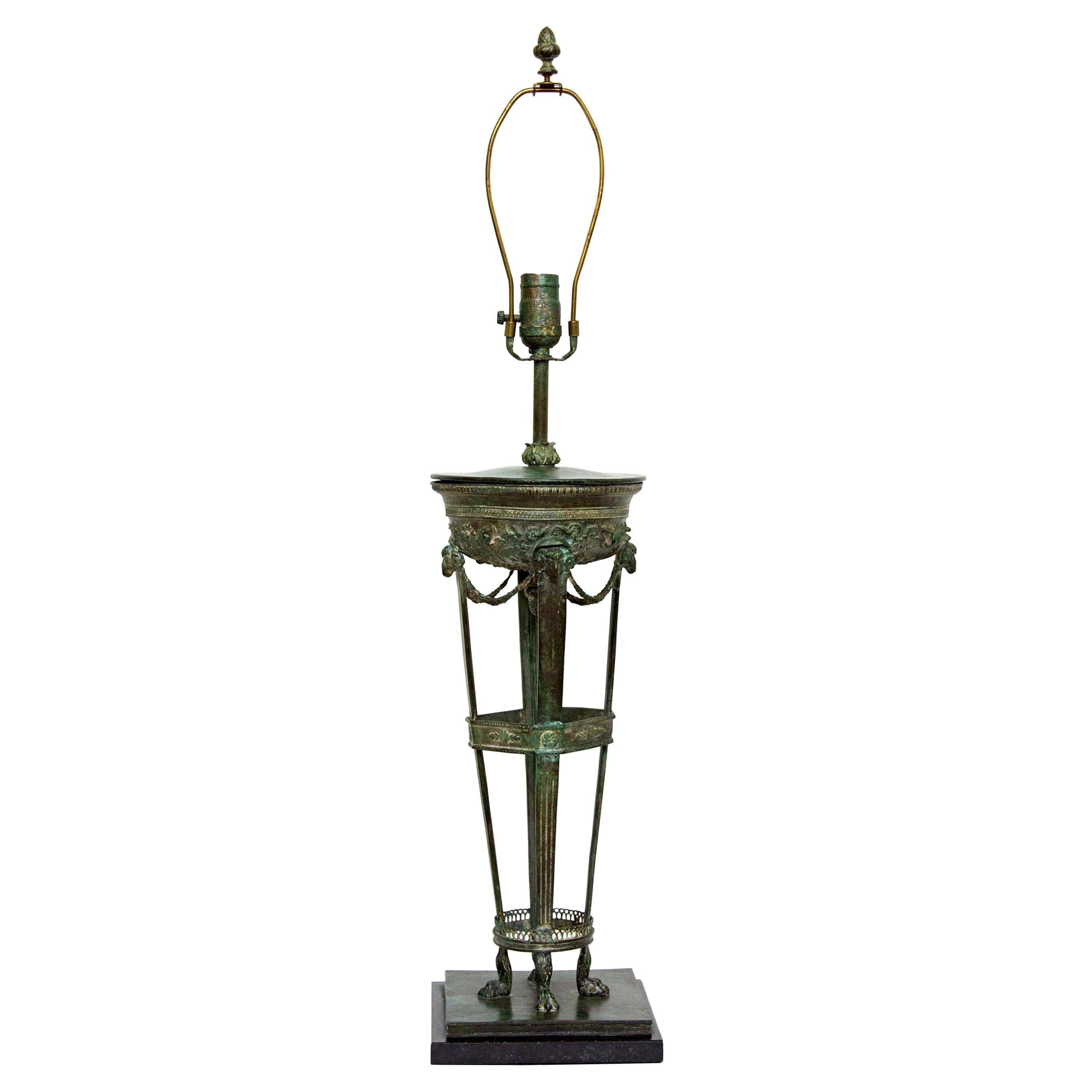 Classical Grand Tour Style Bronze Table or Desk Lamp