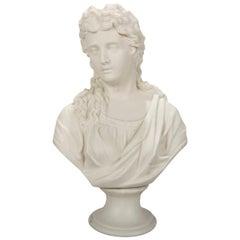 Classical Grecian Parian Copeland School Portrait Bust of a Woman, circa 1890