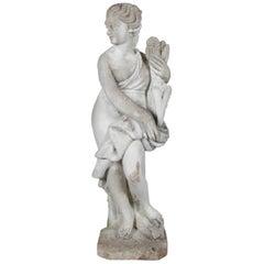 Classical Greek Cast Stone Horae Auxo Goddess of Summer Garden Sculpture