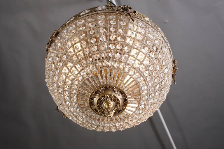 20th Century Classical Half Circle Chandelier in Biedermeier Style For Sale