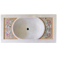 Classical Inlaid Marble Stone Sink Basin