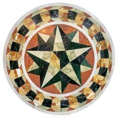 Classical Italian Pietra Dura Stone Mosaic Round Table Top