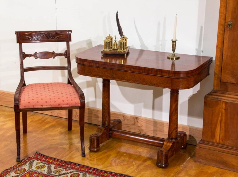 Classical Mahogany Card Table, New York, Attributed to Duncan Phyfe For Sale 4