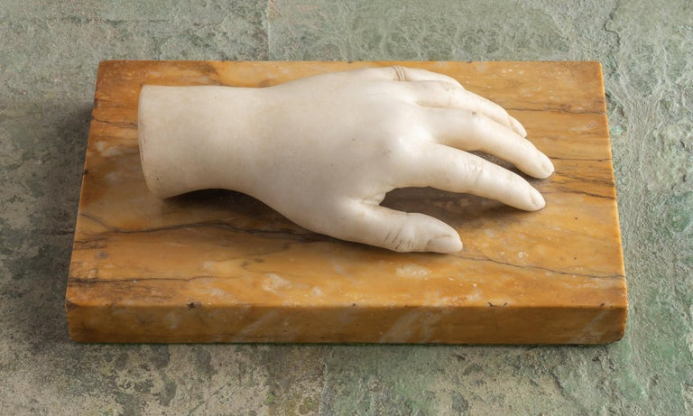Italian Classical Marble Artist Model Hand, Italy, Late 19th Century For Sale