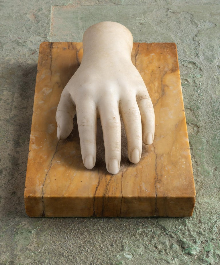 Classical Marble Artist Model Hand, Italy, Late 19th Century In Good Condition For Sale In Culver City, CA