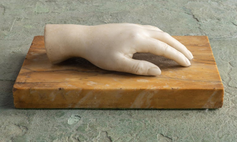 Classical Marble Artist Model Hand, Italy, Late 19th Century For Sale 1