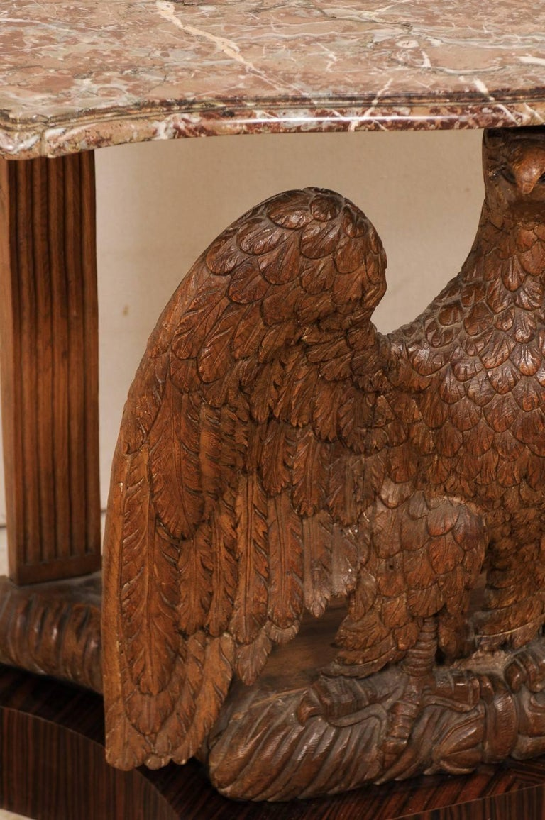Classical Period American Carved Eagle Console Table W Marble Top Circa 1820 For Sale At 1stdibs