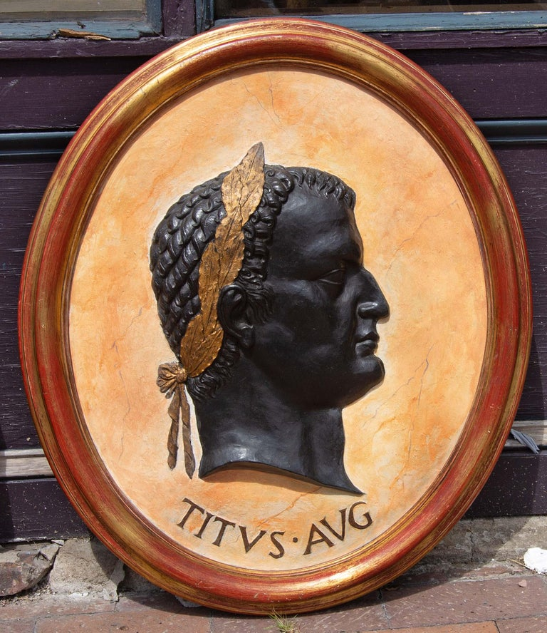 Classical Plaques of Roman Emperors In Good Condition In Rochester, NY
