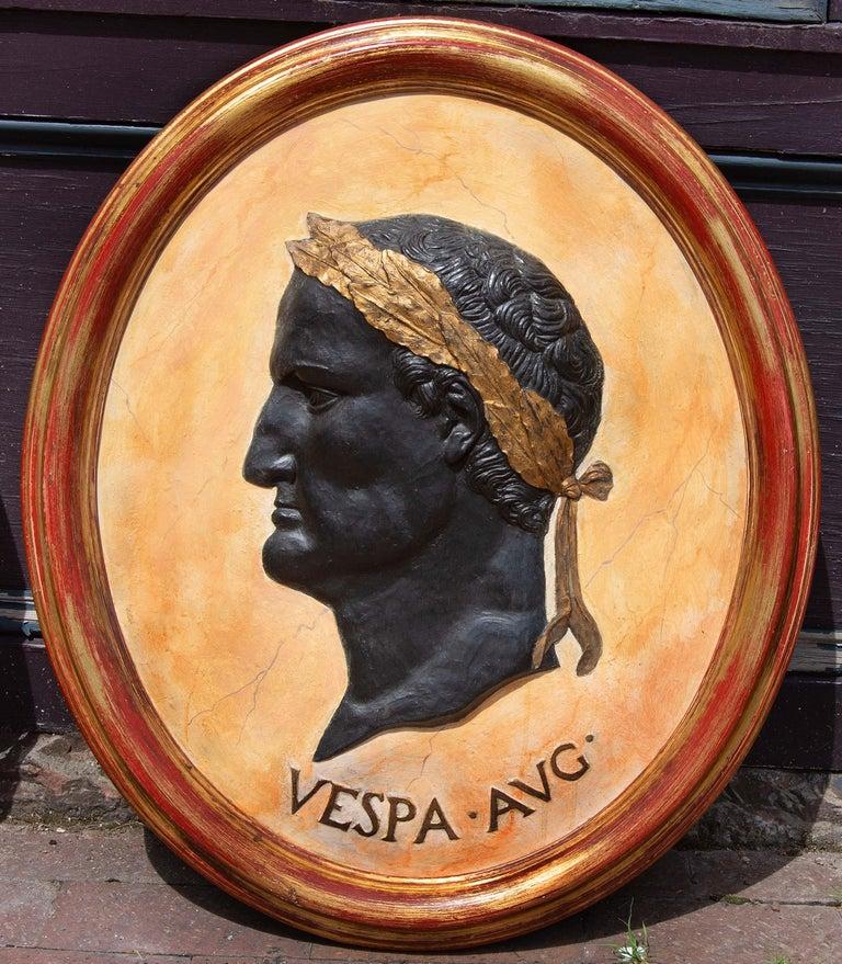 20th Century Classical Plaques of Roman Emperors