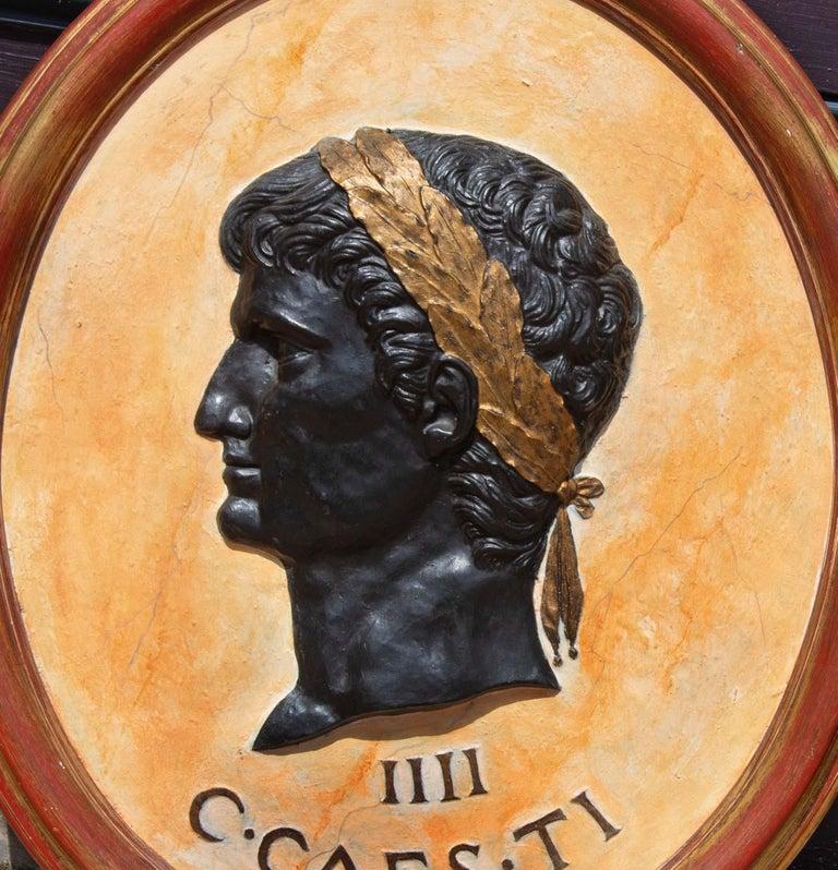 Fiberglass Classical Plaques of Roman Emperors