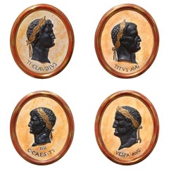 Classical Plaques of Roman Emperors Set of Four