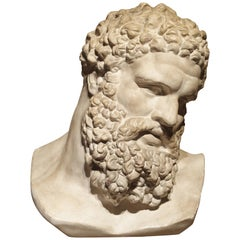 Classical Plaster Bust, Florence Italy, 20th Century