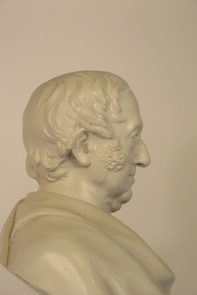 Classical Plaster Bust of Man For Sale 6