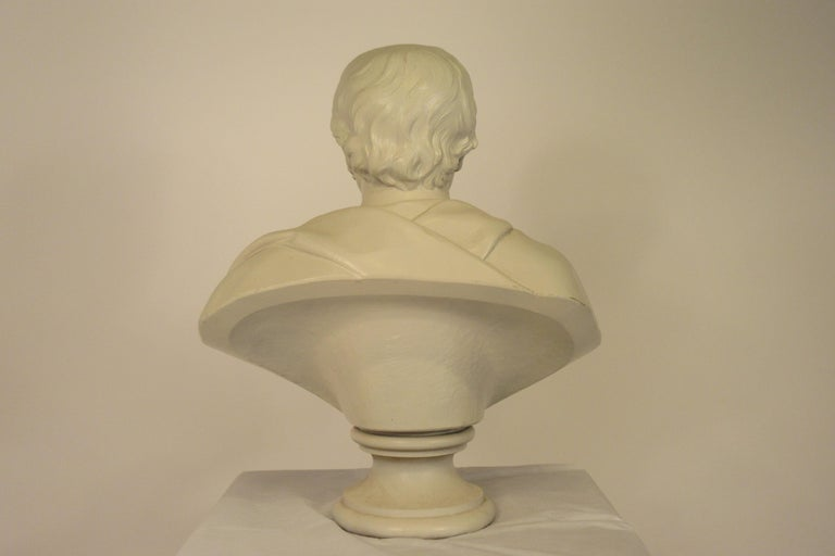 Classical Plaster Bust of Man For Sale 7