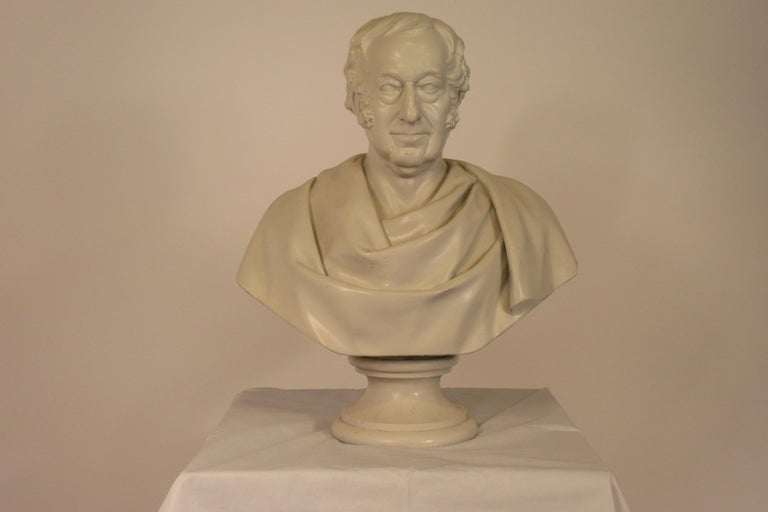 Classical Plaster Bust of Man In Good Condition For Sale In Tarrytown, NY