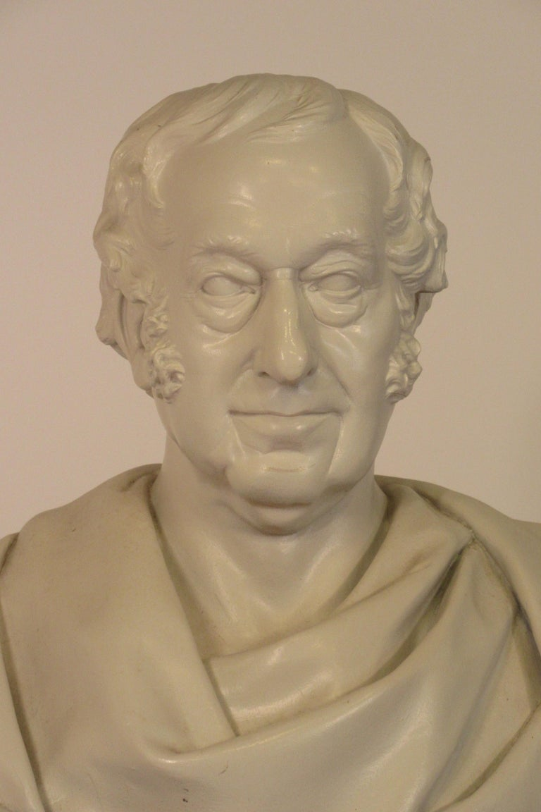 Mid-20th Century Classical Plaster Bust of Man For Sale