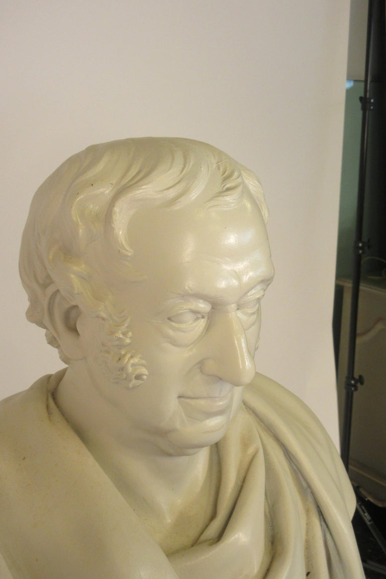 Classical Plaster Bust of Man For Sale 1