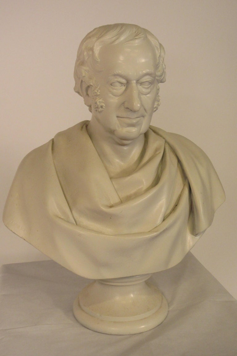 Classical Plaster Bust of Man For Sale 2