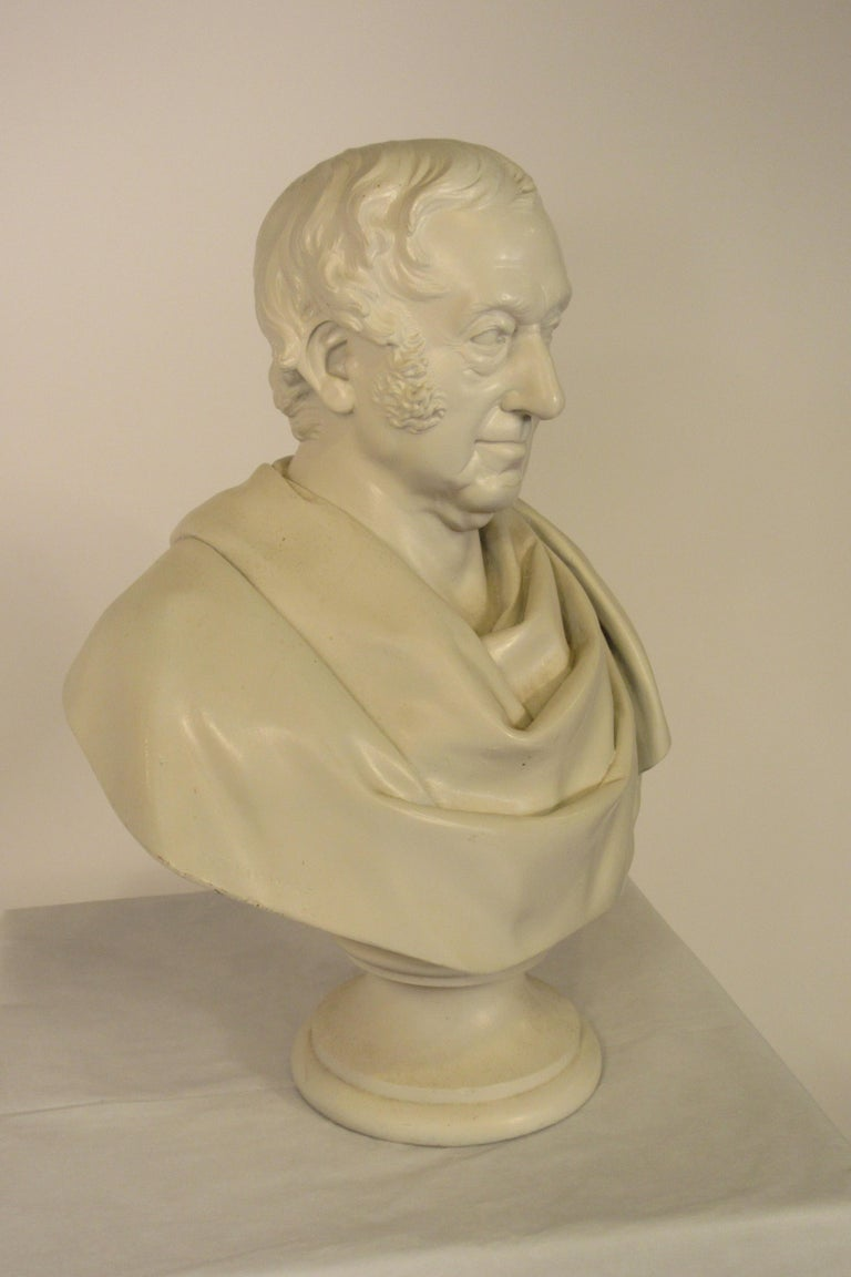 Classical Plaster Bust of Man For Sale 3