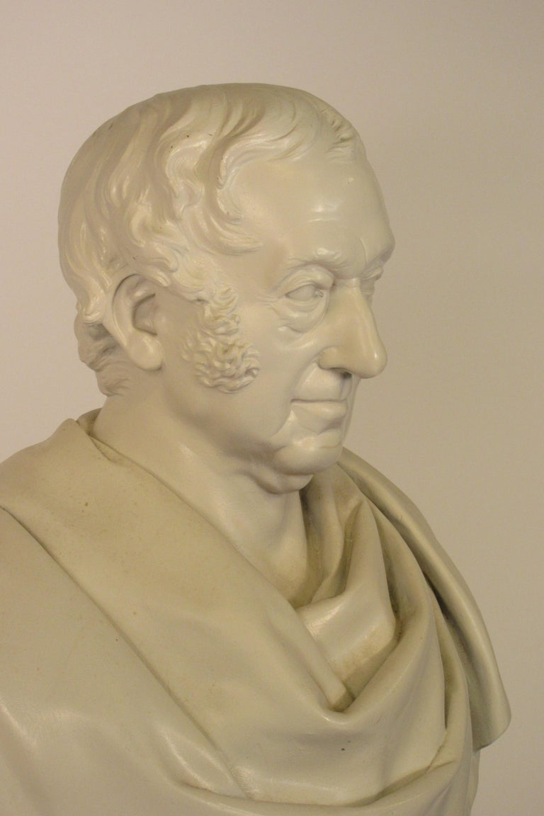 Classical Plaster Bust of Man For Sale 4