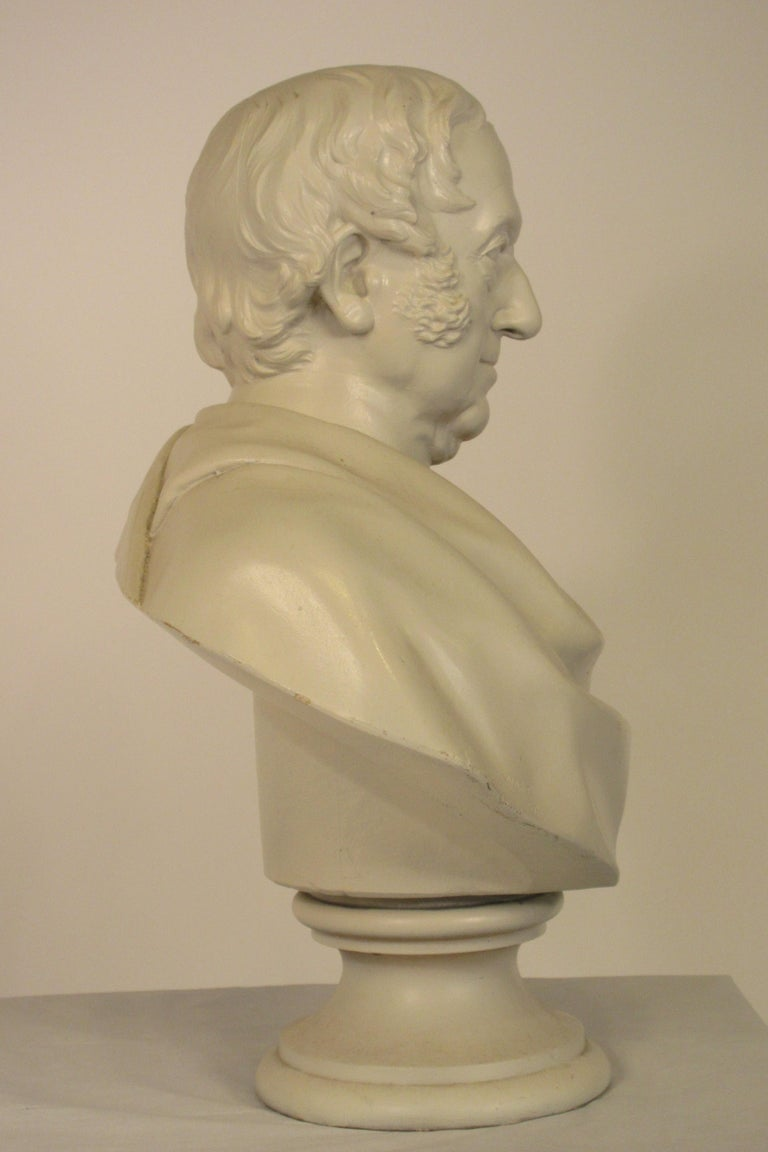 Classical Plaster Bust of Man For Sale 5